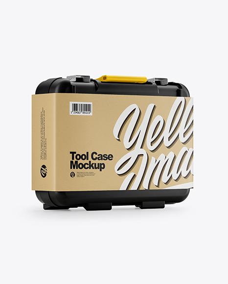 Tool Case Mockup - Half Side View