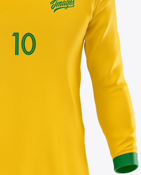 Football Kit Long Sleeve Mockup – Front View