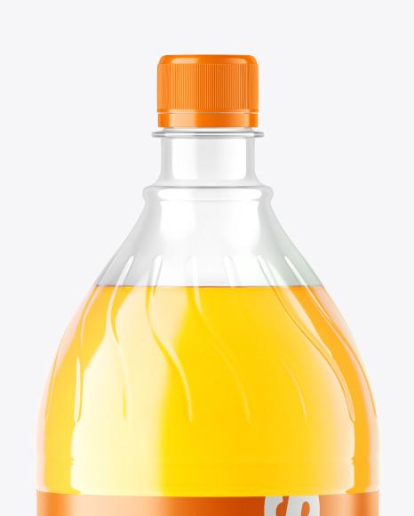 Orange Soft Drink Bottle Mockup