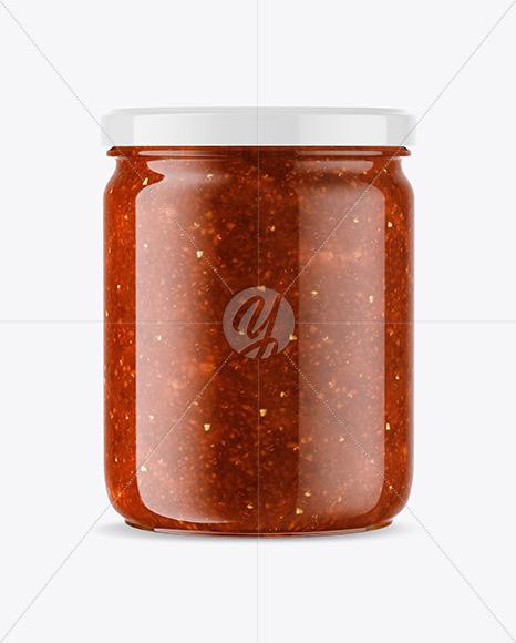 Salsa Sauce Jar Mockup