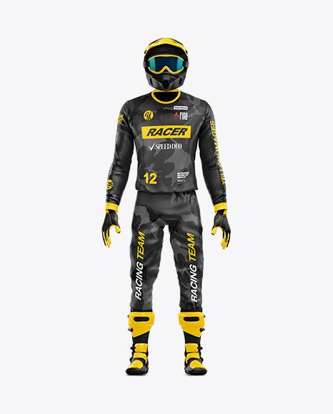 Motocross Racing Kit Mockup - Front View