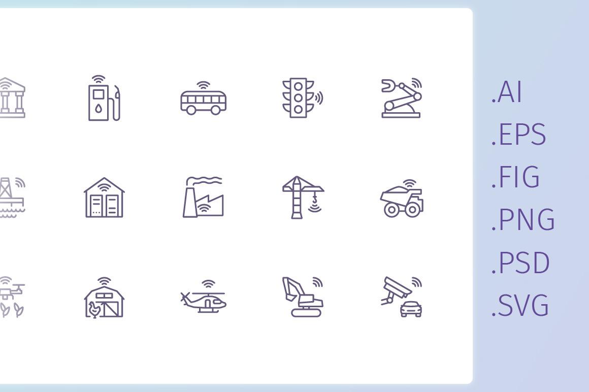 IIoT outline iconset