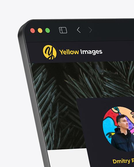 Frameless Browser Window Mockup