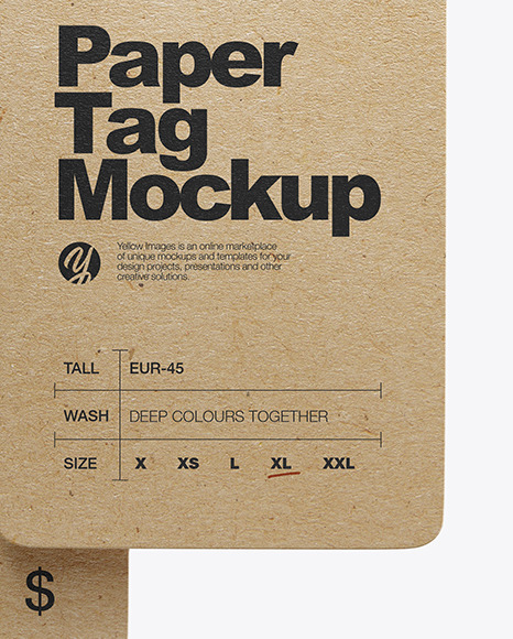 Two Kraft Tag Labels Mockup
