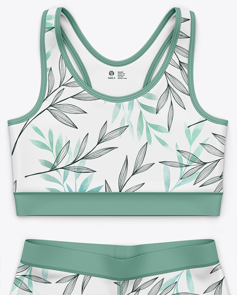Women's Sport Tank Top and Shorts  - Front Top View