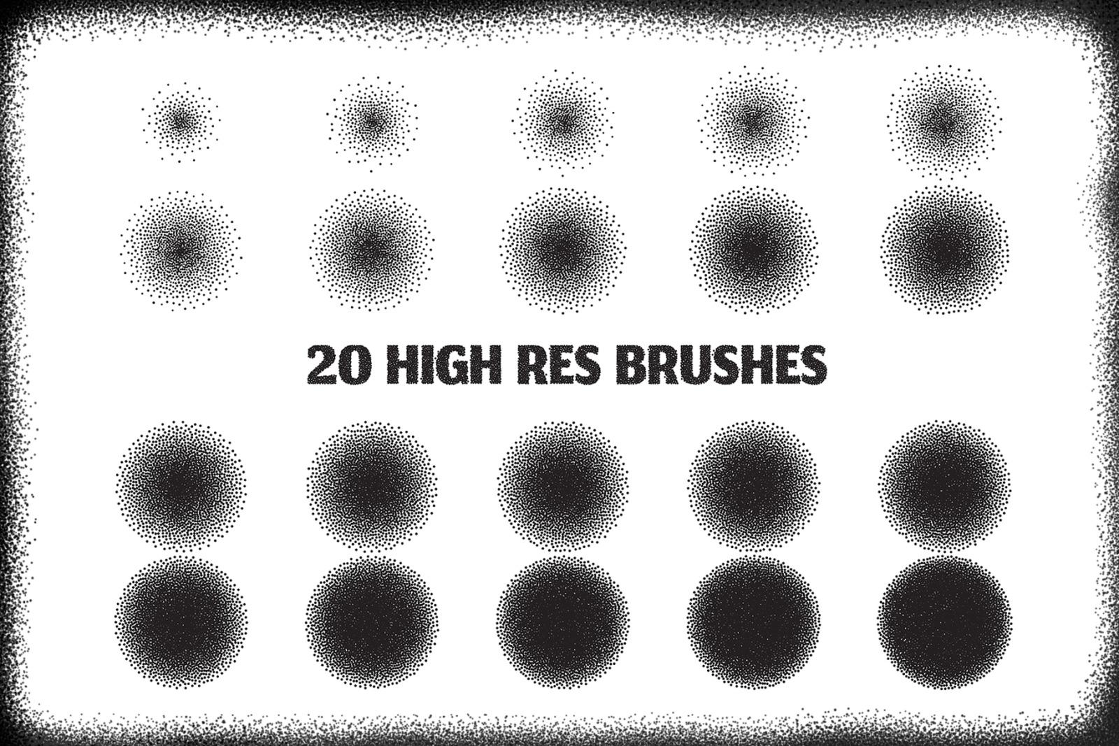 20 Stipple Procreate Brushes