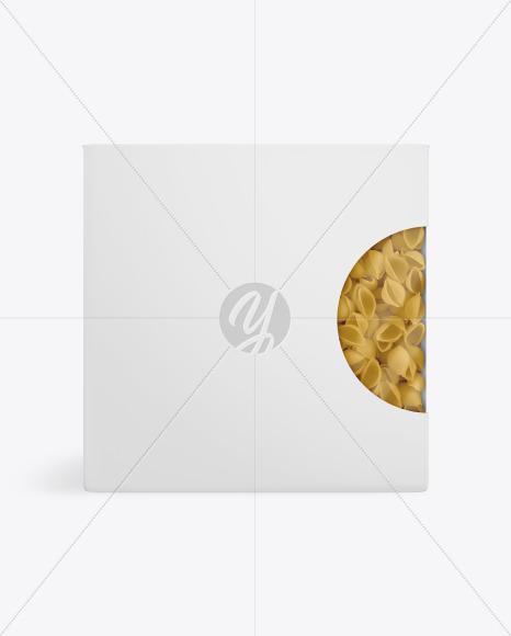 Paper Box With Conchiglie Pasta Mockup