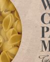 Kraft Paper Box With Conchiglie Pasta Mockup