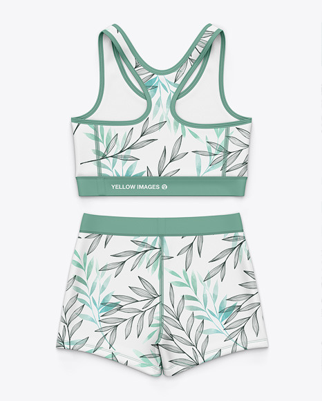 Women's Sport Tank Top and Shorts  - Back Top View