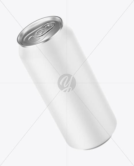 Aluminium Can With Matte Finish Mockup