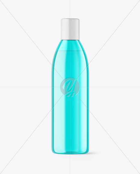Color Plastic Bottle Mockup
