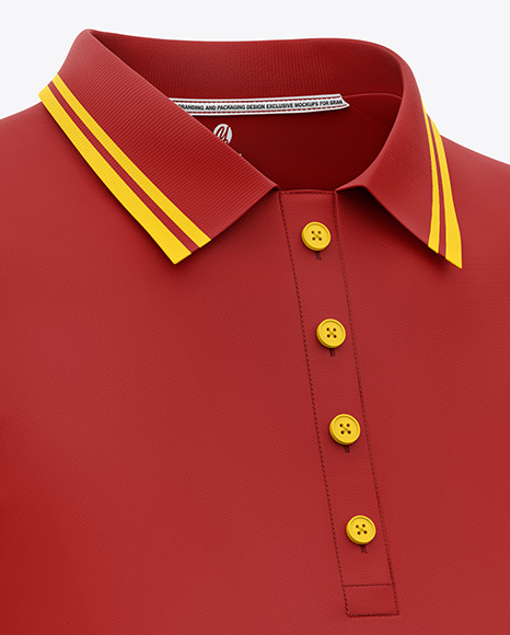 Women's Short Sleeve Polo Shirt Mockup