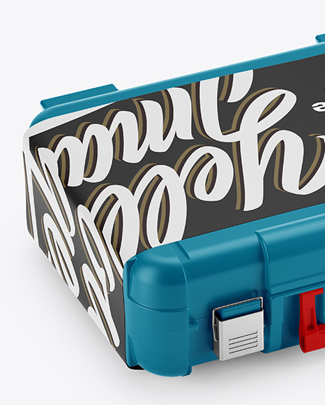 Tool Case Mockup - Half Side View (High-Angle Shot)