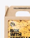 Kraft Box with Farfalle Pasta Mockup