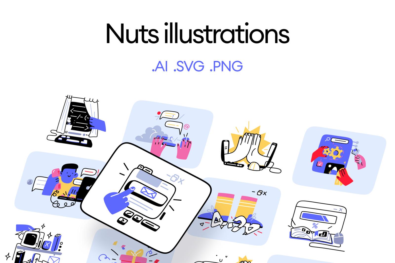 Nuts Illustrations