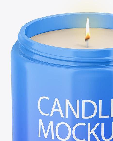 Glossy Candle Mockup