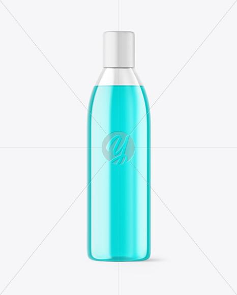 Color Liquid Plastic Bottle Mockup