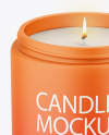 Matte Candle Mockup