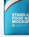 Metallic Food Bag Mockup - Front View