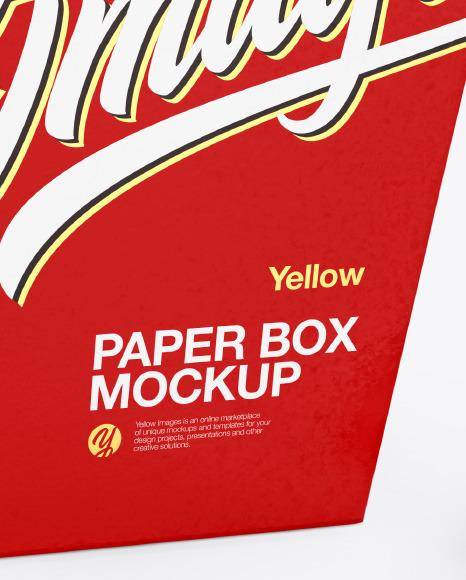 Paper Box w/Fortune Cookies Mockup