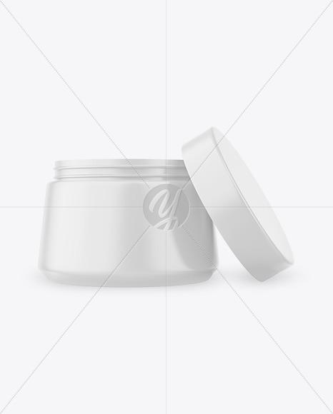 Opened Cosmetic Jar Mockup