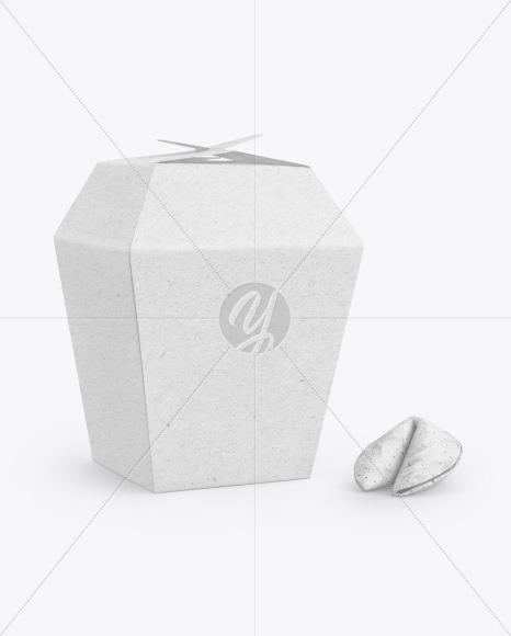 Kraft Paper Box w/Fortune Cookies Mockup