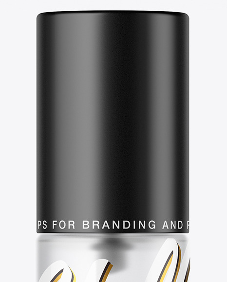 Frosted Glass Cosmetic Bottle with Pump Mockup