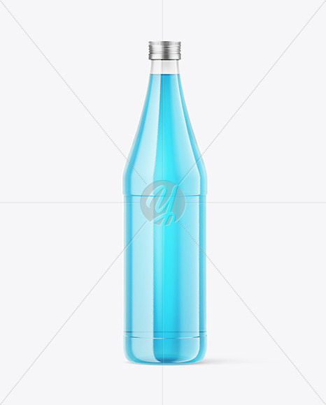 750ml Glass Colored Drink Bottle Mockup