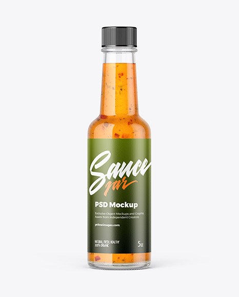 Bottle with Hot Sauce Mockup