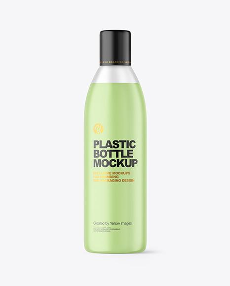 Frosted Liquid Soap Plastic Bottle Mockup
