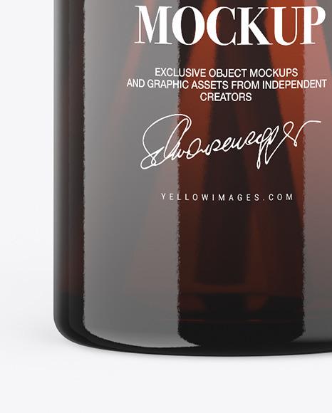 Amber Diffuser Bottle Mockup
