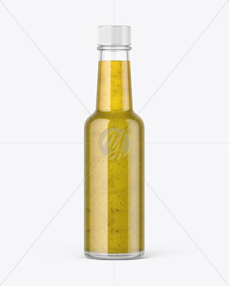 Bottle with Jalapeno Sauce Mockup