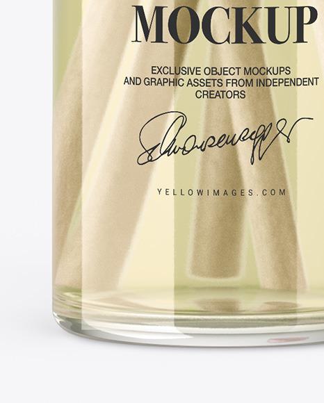 Diffuser Glass Bottle Mockup