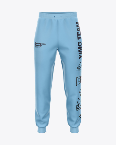 Sweatpants with Ribbing - Front View