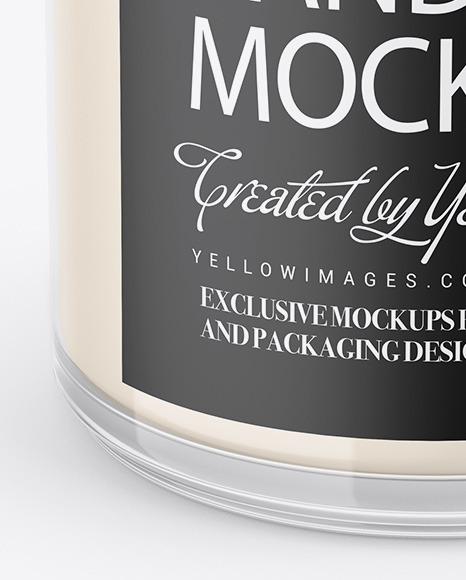 Glossy Glass Candle Mockup