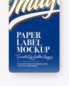 Glossy Paper Label Mockup