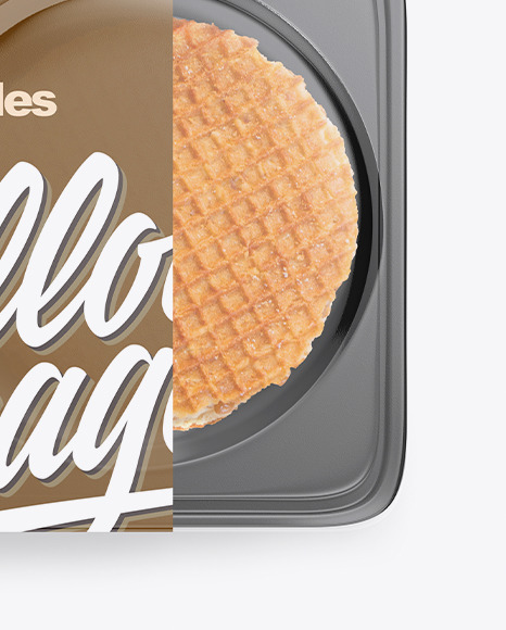 Container with Waffles Mockup