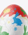 Egg in Metallic Foil Mockup