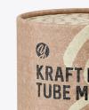 Matte Kraft Paper Tube Mockup