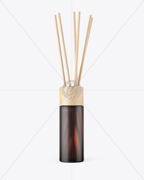 Diffuser Frosted Amber Bottle Mockup