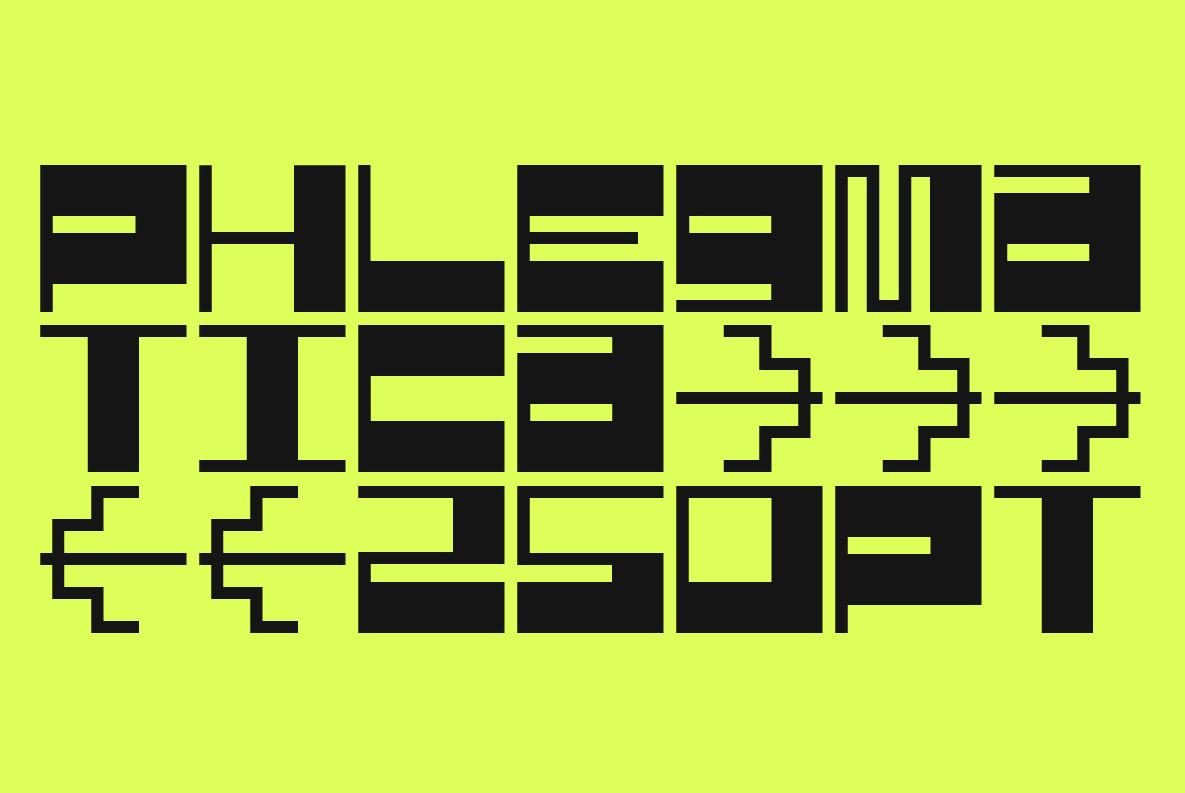 SK Phlegmatica Font
