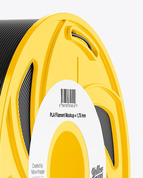 Plastic Filament Spool Mockup - Halfside View