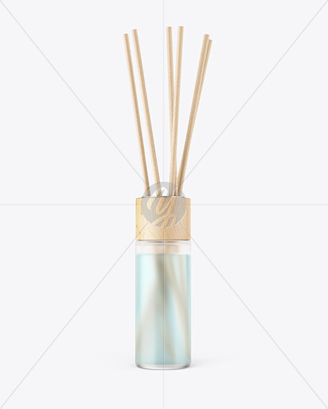 Diffuser Frosted Glass Bottle Mockup