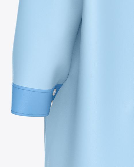 Medical Uniform Mockup – Back Half Side View