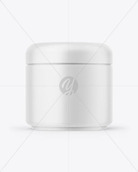 Matte Plastic Cream Jar Mockup