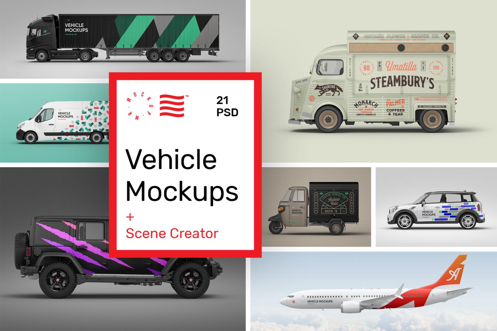 Vehicle Mockups - Car Mockups