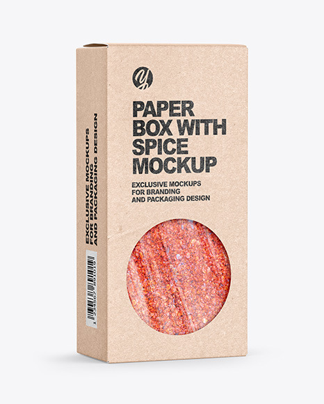 Kraft Box with Spice Mockup