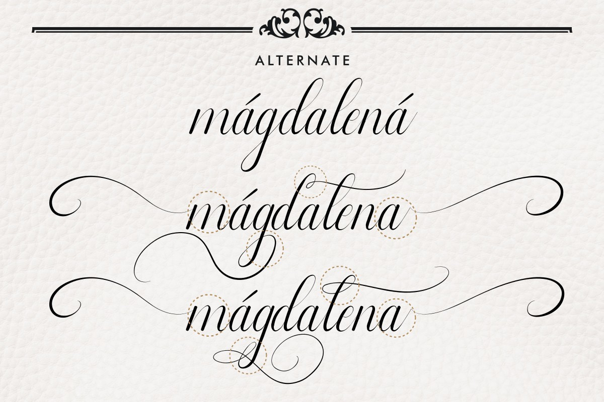 Leathering Calligraphy Font