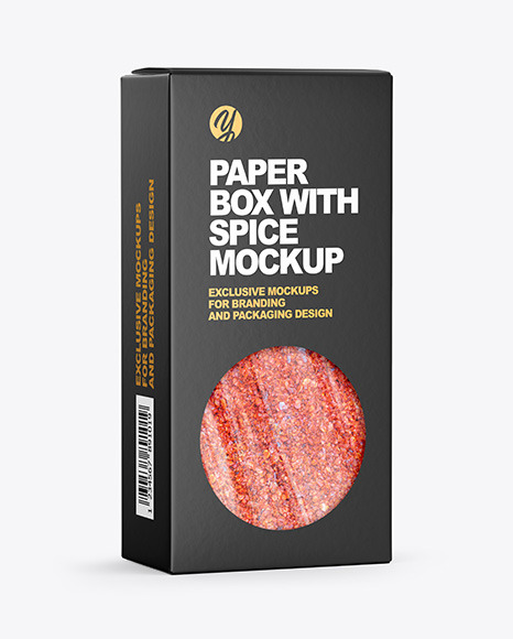 Paper Box with Spice Mockup