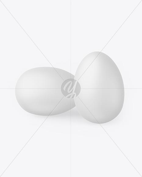 Two Matte Eggs Mockup